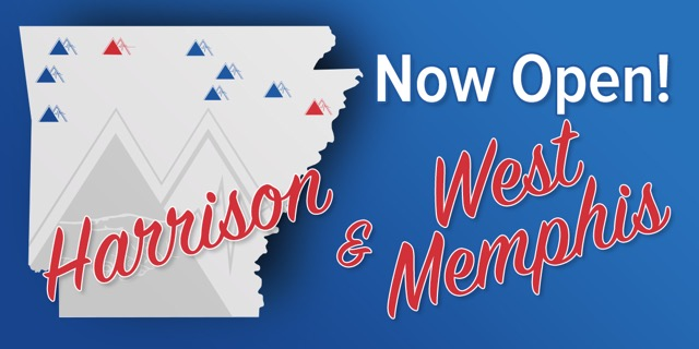 We keep growing to better serve you, Arkansas!
